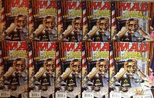 LOT OF 10  2009 OBAMAS GREATEST MAD MAGAZINE EVER THE FIRST HUNDRED MINUTES #498