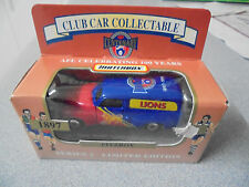 RARE MATCHBOX AFL Football Collectable Car FITZROY LIONS 1996 Limited FJ
