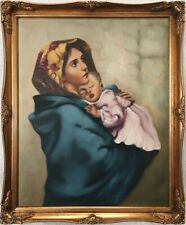 Mid 20th Century Continental School Oil on Canvas Painting. Signed.