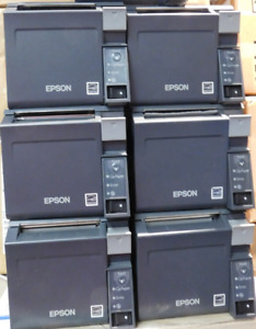 1 x Used Epson TM70 front load docket printer - New power pack included