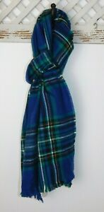 NWT Gap Men's Plaid Scarf Cozy Fall Winter Green/Blue/Yellow/White MSRP $27 New