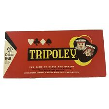 Tripoley Vintage Game 1965 by Cadaco with Vintage Cadaco Card Deck Complete