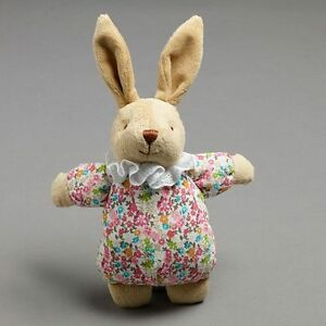 PILBEAM FLORAL BUNNY RATTLE 25CM