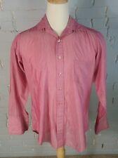 Vtg 60s 70s Pink Sears French Cuff Hippie OG Pimp Collar Shirt Disco Dance XL