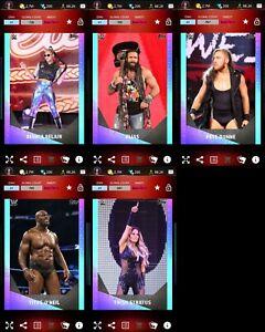 Topps WWE SLAM 2020 Neon Base Bianca Belair Elias Pete Dunne Titus Trish Stratus