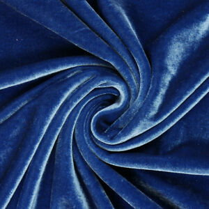 Premium Stretch-Samt   blau