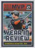 2018 DONRUSS OPTIC YEAR IN REVIEW GIANCARLO STANTON MIAMI MARLINS #YR2