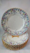 "Set of TEN Minton Garden Pinks S381 10 3/4"" Dinner Plates in Excellent Condition"