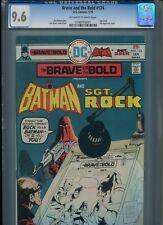 Brave and the Bold #124 CGC 9.6 (1976) Batman Sgt. Rock Only 4 Higher @ 9.8
