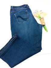 Womens Jeans Lane Bryant Genius Fit Blue Capri Pants Cropped Plus 22 3X
