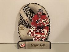 1998-99 PACIFIC PARAMOUNT TREVOR KIDD GLOVE SIDE LASER CUTS #4 HURRICANES