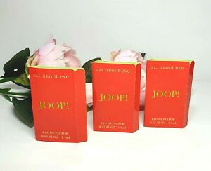 TASTER EXPERIENCE JOOP ! ALL ABOUT EVE 3 X 1.5 ML EDP, VINTAGE