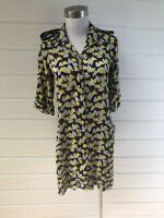 DIANE VON FURSTENBERG Silk Blend Tunic Top With Pockets - 2/AU 6-8