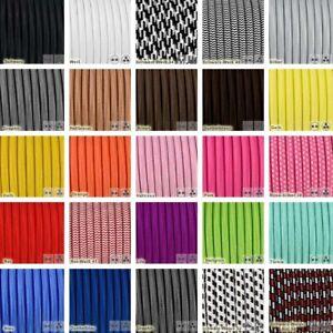 3-adrig Textilkabel für Pendellampe Lampenkabel Stoffkabel 3x0,75mm2