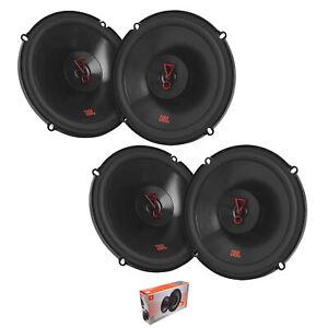 """2x Pair of JBL 6.5"""" 2-Way 540 Watt 3 Ohm Black Coaxial Speakers STAGE3627F"""