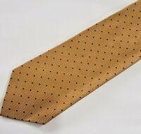 """Valentino Cravatte 100% Silk Luxury Mens Neck Tie Golden Textured 4"""" x 57"""""""