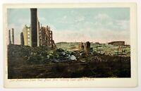 San Francisco From Van Ness Avenue East After Fire Quake California Postcard CA