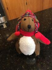 Gund Knit Squirrel plaid hat Pufferbellies RARE plush stuffed animal