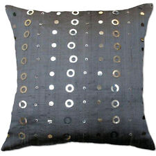 element siquen grey silver silk cushion covers
