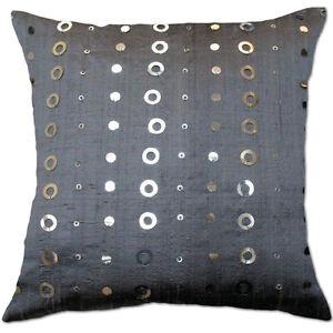 element siquen grey silver silk cushion covers