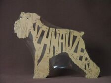 Miniature Schnauzer Dog Wooden Amish Made Toy Puzzle