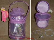 TINKER BELL STAR CHARM NECKLACE AND BRACELET IN A LAVENDER BEAD AND SEQUINE TOTE