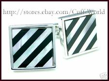Onyx & MOP Mother of Pearl Cuff Links cufflinks #C-66