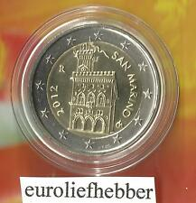 San Marino   OFFICIAL UNCIRCULATED   2 EURO COIN    2012    OP VOORRAAD