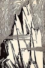 "Original 1948 Don Blanding Art Deco Vintage Print ""Mountain Challenge"""