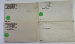 (4) 1965 United States special mint set - 5 coins w/envelope. AF