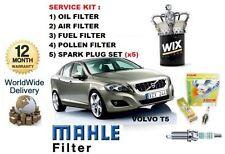 FÜR VOLVO V60 2.0 T5 10-> SERVICE-SET ÖL- LUFT- KRAFTSTOFF-  POLLENFILTER