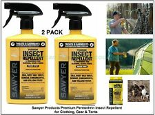 2 PACK Sawyer Permethrin Insect Repellent Treatment For Clothing Gear & Tents