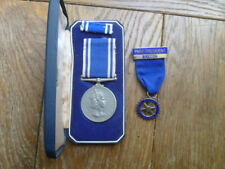 More details for qeii police lsgc medal chief inspector (powys connection?) + silver rotary medal