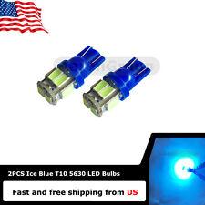 2PCS Ice Blue T10 W5W 168 147 194 912 921 Super Bright 10SMD 5630 LED bulbs