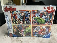RAVENSBURGER MARVEL AVENGERS 4 x 100 piece PUZZLE COMPENDIUM NEW SEALED