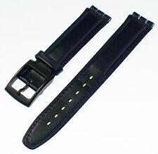 Orologi bracciale compatibile per Swatch BLU SCURO 17 mm vera pelle NUOVO