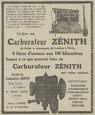 Z9424 Carburateur ZENITH -  Pubblicità d'epoca - 1921 Old advertising