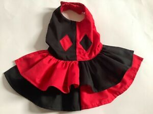 Handmade Harley  quinn  doggie dress size medium