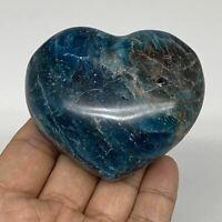 "239g, 2.3"" x 2.8"" x1.3"", Natural Blue Apatite Heart Reiki Energy, B5624"