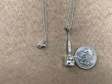 QVC Sterling Silver 925 Topaz Drop necklace