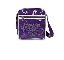sacoche sac bandoulière LE TEMPS DES CERISES violet/blanc - neuf