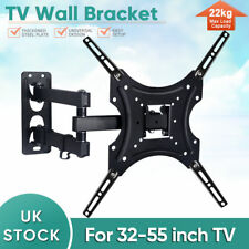 TV Wall Mount Bracket Shelf Tilt & Swivel Flat Plasma LCD LED 32-55 inches PVC