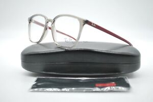 NEW RAY BAN RB 7185 8083 GRAY AND RED AUTHENTIC EYEGLASSES FRAMES RX 52-18