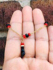 18K Gold Filled Azabache Bracelet for Baby,FIGARO, Pulsera De Azabache Para Bebe