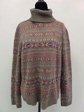Lauren Ralph Lauren Sweater Polo Turtle Neck Lambs Wool Womens Size XL