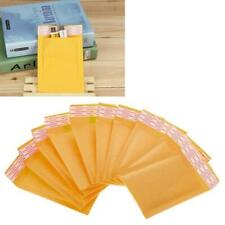 10pcs Yellow Kraft Bubble Mailers Padded Envelopes Shipping Bags Self Seal