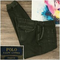 Polo Ralph Lauren Cargo Jogger Pants Army Green Stretch Mens 38x32 Straight Fit