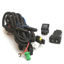 Car LED Fog Light Lamp DRL 9006 Wiring Harness Switch For Toyota Chevrolet Jeep