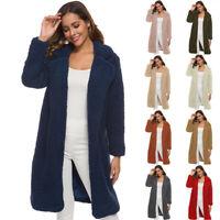 Women Long Sleeve Cashmere Jacket Coat Cardigan Sweater Casual Outwear Jacket