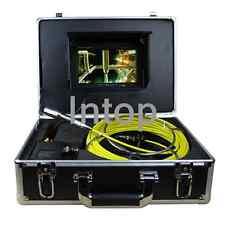 """W/7""""Mon 20M Sewer Waterproof Camera Pipe Pipeline Drain Snake Inspection System"""